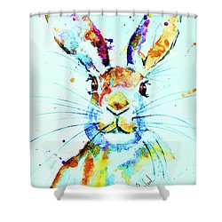 The Hare Shower Curtain by Steven Ponsford