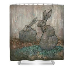 The Hare's Den Shower Curtain
