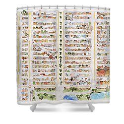 The Harlem Map Shower Curtain