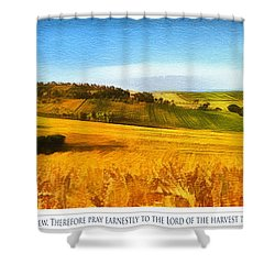 The Harvest Is Plentiful Shower Curtain by Dale Jackson