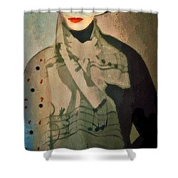 Shower Curtain featuring the digital art The Hat by Alexis Rotella