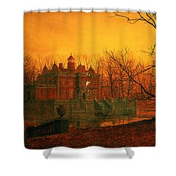 The Haunted House Shower Curtain by John Atkinson Grimshaw