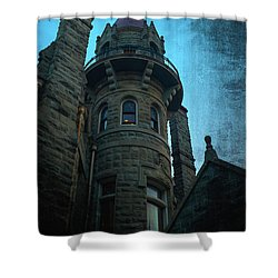 The Haunted Tower Shower Curtain