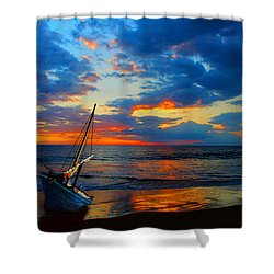 The Hawaiian Sailboat Shower Curtain
