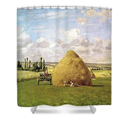 The Haystack Shower Curtain by Camille Pissarro