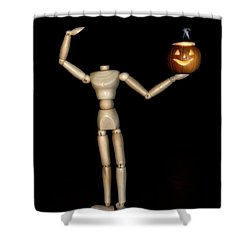 The Headless Woody Shower Curtain
