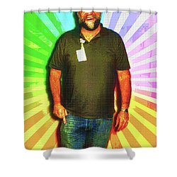 Shower Curtain featuring the mixed media The Healing Smile Mosaic by Shawn Dall