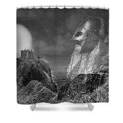 The Heart Of A Warrior Shower Curtain