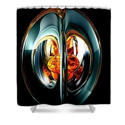 The Heart Of Chaos Abstract Shower Curtain by Alexander Butler