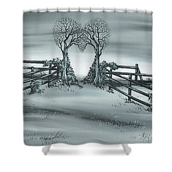 The Heart Of Everything Shower Curtain by Kenneth Clarke