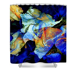 Shower Curtain featuring the painting The Heart Of My Garden by Hanne Lore Koehler