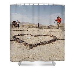 The Heart Of The Desert Shower Curtain by Yoel Koskas