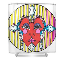 The Heart Queen Shower Curtain