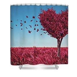 The Heart Tree Shower Curtain