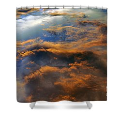 The Heavens Declare #2 Shower Curtain by Lydia Holly
