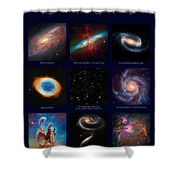The Heavens - Images From The Hubble Space Telescope Shower Curtain