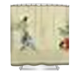 Shower Curtain featuring the painting The Hegassen Scroll by Celestial Images