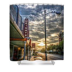 The Heights At Morning Light Shower Curtain
