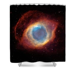 The Helix Nebula  Shower Curtain by Hubble Space Telescope