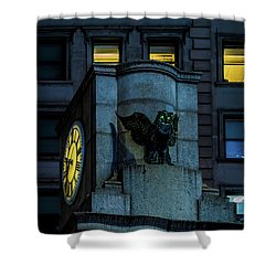 The Herald Square Owl Shower Curtain