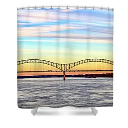 The Hernando De Soto Bridge Shower Curtain