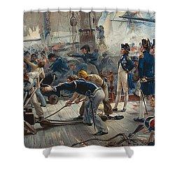 The Hero Of Trafalgar Shower Curtain by William Heysham Overend