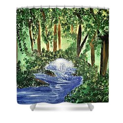 The Hidden Forest Shower Curtain by Angela Holmes