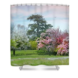 Shower Curtain featuring the photograph The Hidden Garden by Diana Angstadt