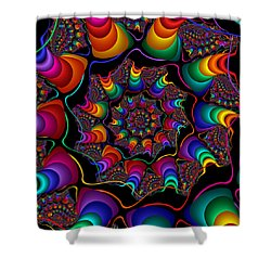 Helicoids Shower Curtain