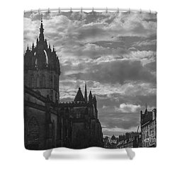 The High Kirk Of Edinburgh Shower Curtain by Amy Fearn