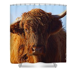 The Highland Cow Shower Curtain