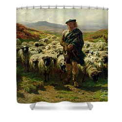 The Highland Shepherd Shower Curtain by Rosa Bonheur