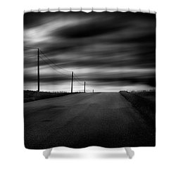 The Highway Shower Curtain by Dan Jurak