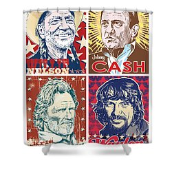 The Highwaymen Shower Curtain by Jim Zahniser