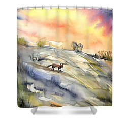 The Hill Of The Foxes Shower Curtain