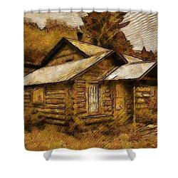 The Hillbilly Cabin Shower Curtain