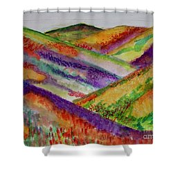 The Hills Are Alive Shower Curtain