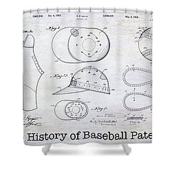 The History Of Baseball Patents Shower Curtain