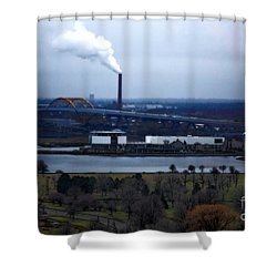 The Hoan Shower Curtain by David Blank