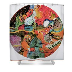 The Holland Jazz Trio Shower Curtain