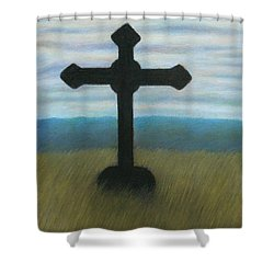 The Holy Cross Shower Curtain