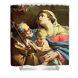 The Holy Family Shower Curtain by Gaetano Gandolfi