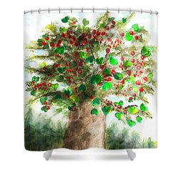 The Holy Oak Tree Shower Curtain