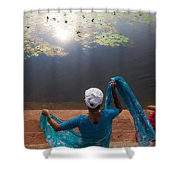 The Holy Pond Shower Curtain