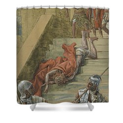 The Holy Stair Shower Curtain by Tissot