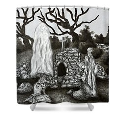The Holy Well Shower Curtain