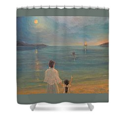 Shower Curtain featuring the painting The Homecoming by Donna Tucker