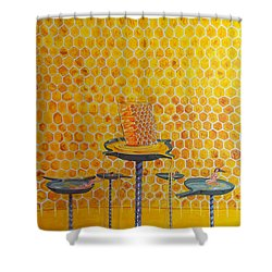 The Honey Of Lives Shower Curtain by Lazaro Hurtado