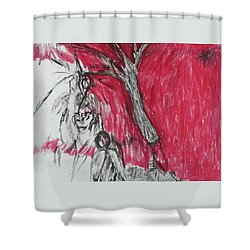 The Horror Tree Shower Curtain