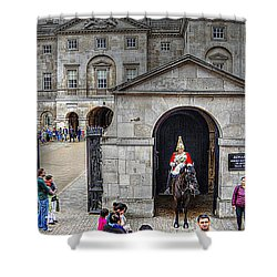 The Horse Guard At Whitehall Shower Curtain